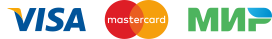 Мы принимаем к оплате на сайте карты Visa/MasterCard/Мир